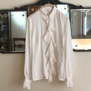 NEW Escada jacquard ivory blouse